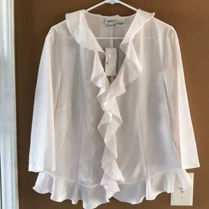 NWT cream Together blouse